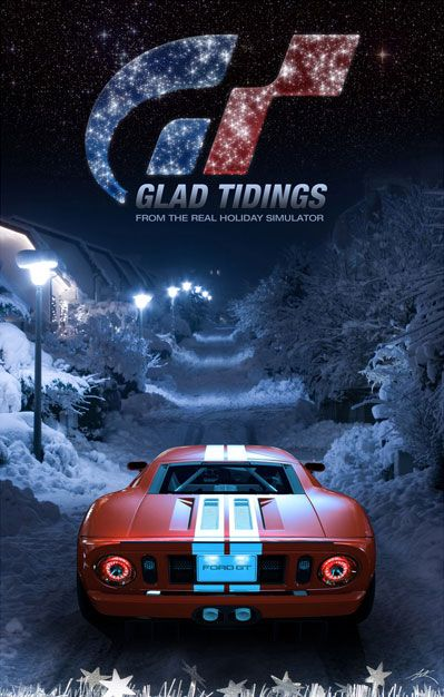 Gran Turismo Ford GT Snow Santa Claus Christmas