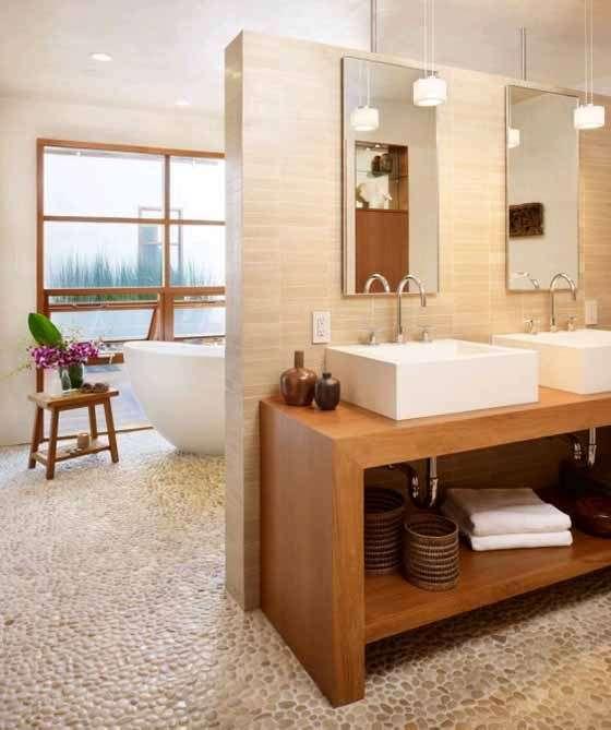 piso banheiro pedras naturais