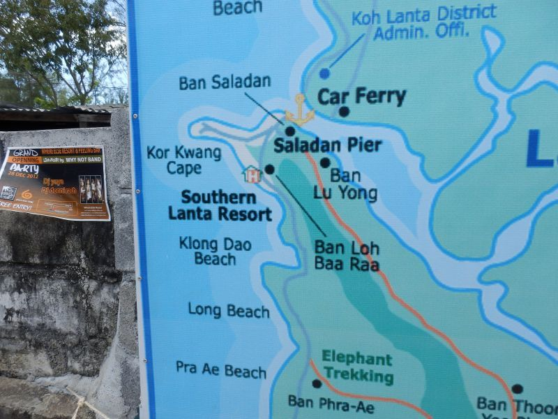 am Pra Ae Beach sind wir los gelaufen, bis zum Kor Kwang Cape und weiter bis Saladan Pier.