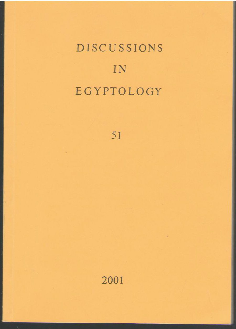 Discussions in Egyptology 51 2001, A Nibbi