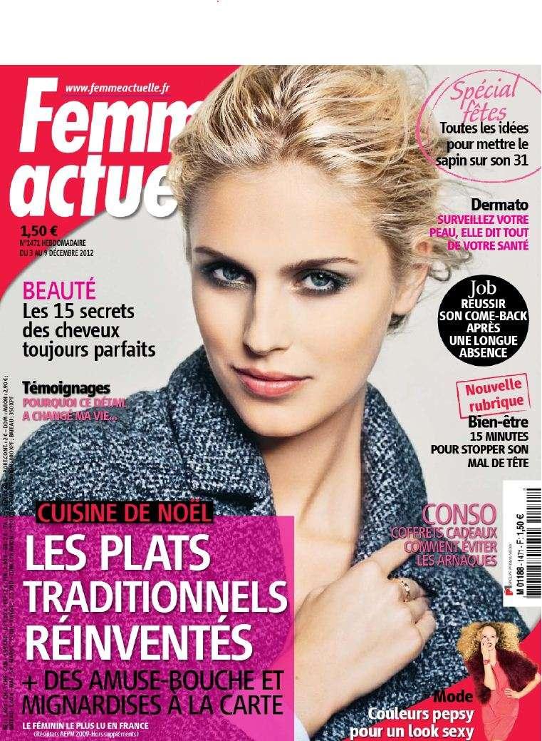 Femme Actuelle N°1471 du 3 au 9 Décembre 2012