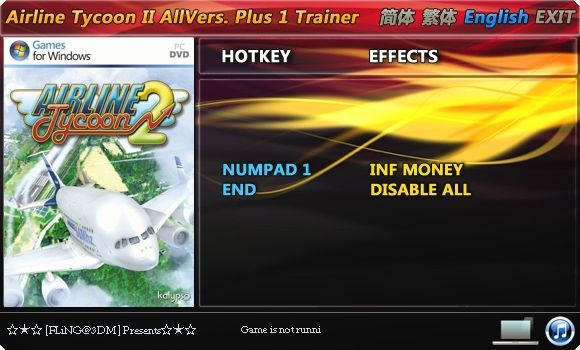1Airline Tycoon 2 Trainer