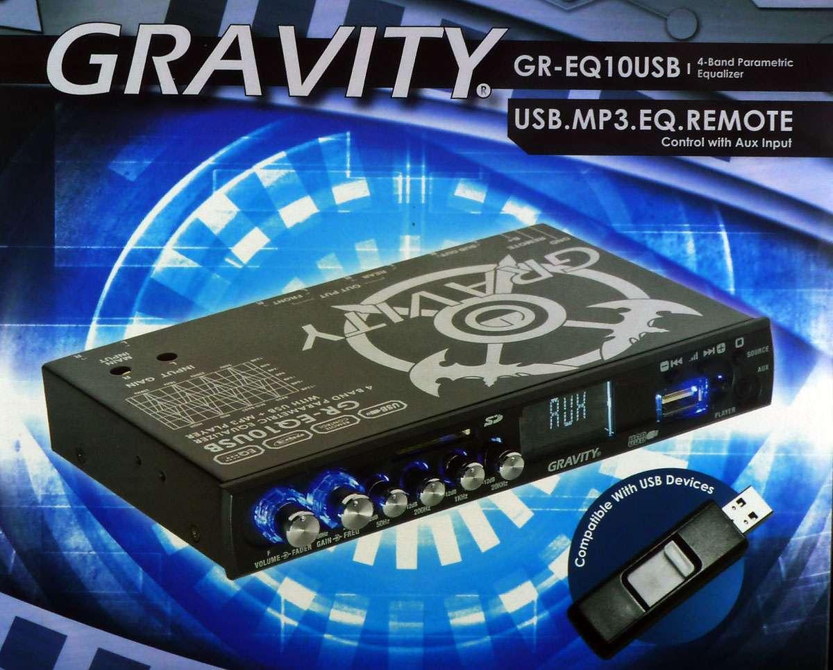 Gravity Gr Eq10usb Preamp Parametric Equalizer Usb Sd Mp3